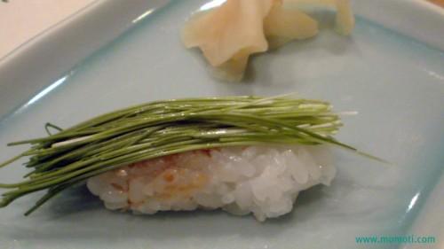 芽ネギの寿司
