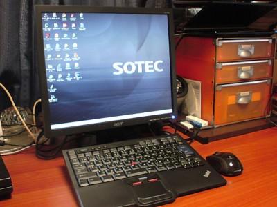 SOTEC C102B4とThinkPadキーボードでデスクトップ環境をつくる。