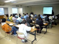 新潟県電気工事工業組合ブログ化研修風景