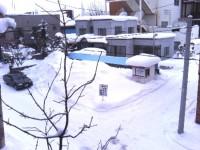 雪の岩見沢市