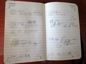2012年の手帳の中身