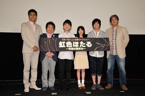 左より 宣伝副隊長 石原良純さん 宣伝隊長 尾木直樹さん
