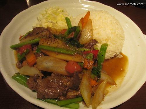ボー サオ ラウ(牛肉と野菜のトマト炒め)
