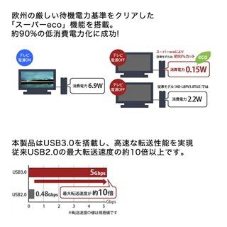 BUFFALO_USB3.0外付けハードディスク