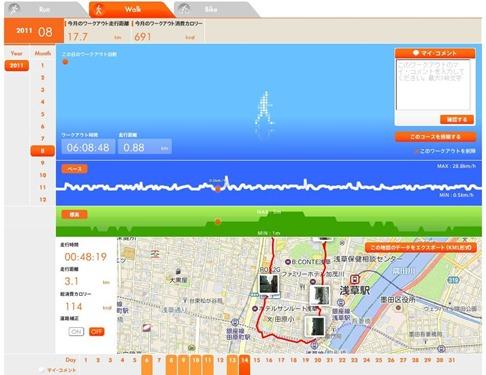 au Smart Sports Run&Walk のリプレイ