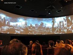 アクトスクエアの360度スクリーン