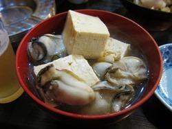 牡蠣の湯豆腐