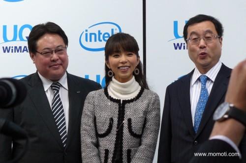 インテル宗像副社長、久保純子さん、UQコミュニケーションズ野坂社長