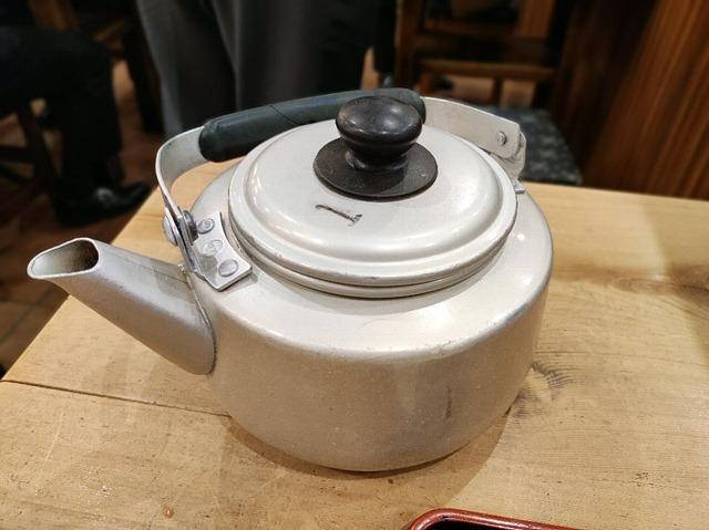 蕎麦湯のやかん