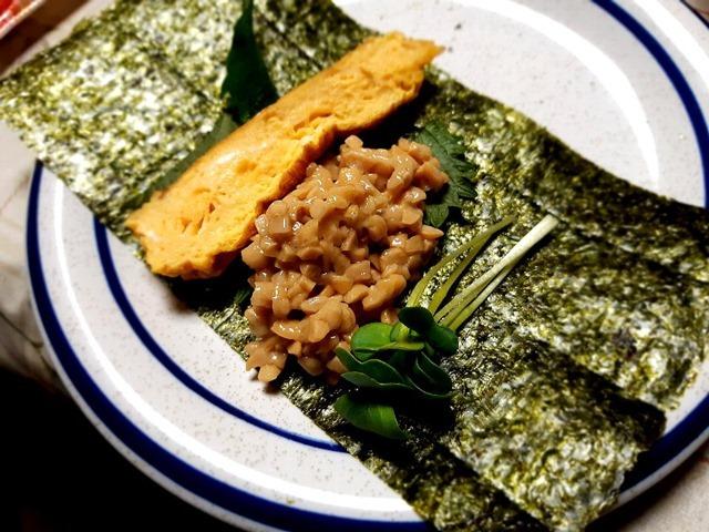 納豆とたまご焼き