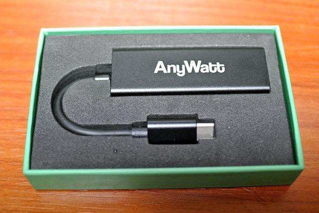 AnyWatt_A002_変換アダプタ_USB_Type-C_TO_Lenovoスリム_ACアダプター