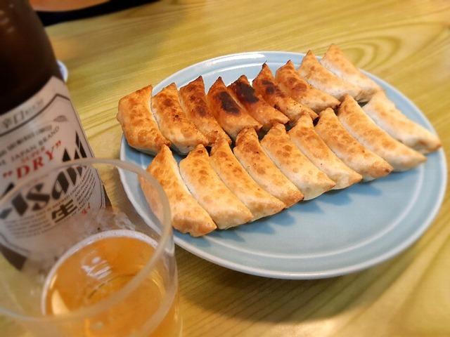 王さまの餃子+ビール