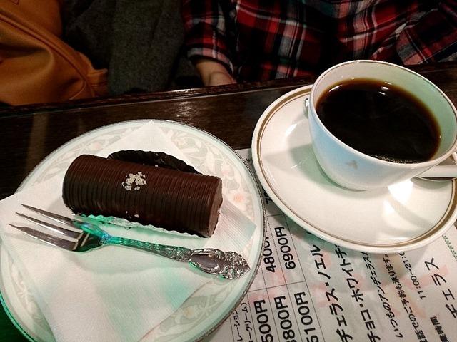 家人のアンジェラス(ビター)とコーヒー