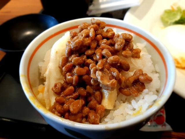 玉子焼+納豆