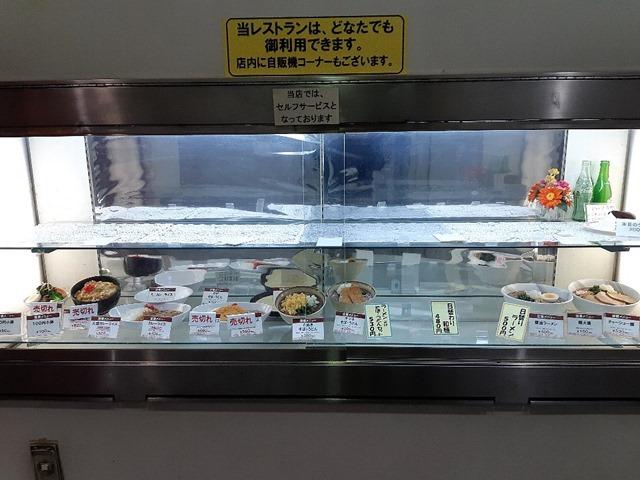 午後2時過ぎの墨田区役所食堂のディスプレイ