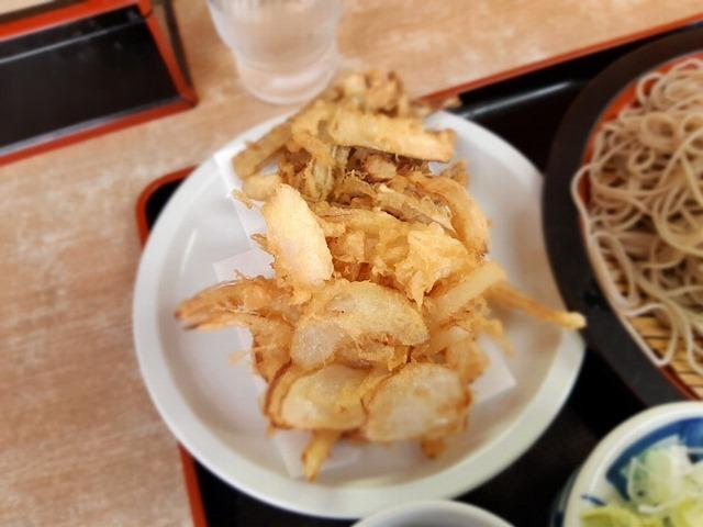 得盛とごぼうと玉ねぎの天ぷら