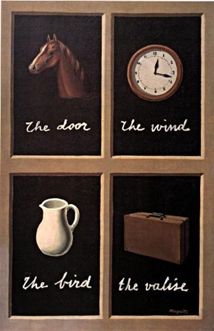 ルネ・マグリット 『夢の解釈 Key to Dreams 』(1930年)