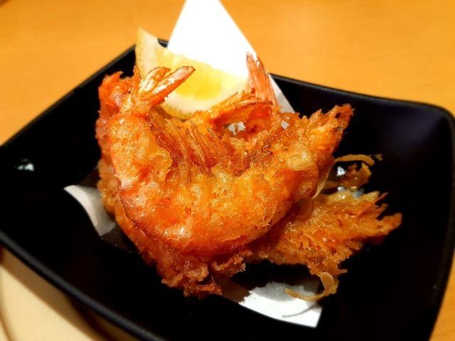 まるごと海老の柚子こしょう天ぷら