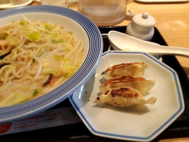 長崎ちゃんぽん(低糖質麺に変更)+薄皮ぎょうざ3個