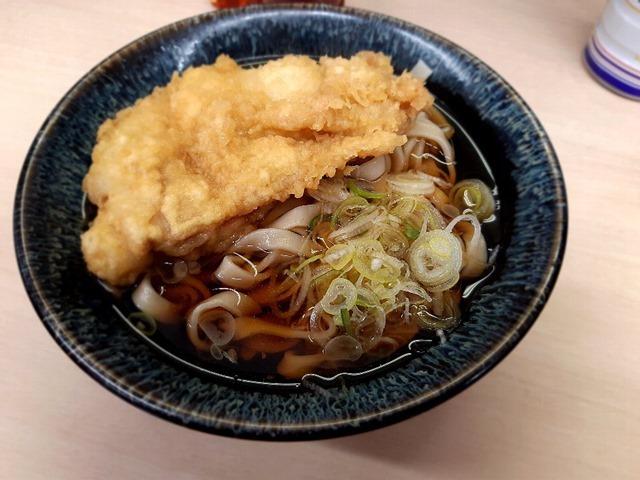 かけ+田舎そば太麺+鶏天トッピング