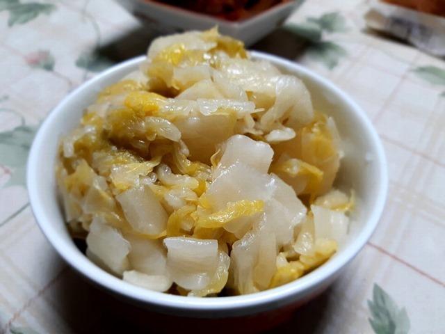 白菜の漬物の油炒め