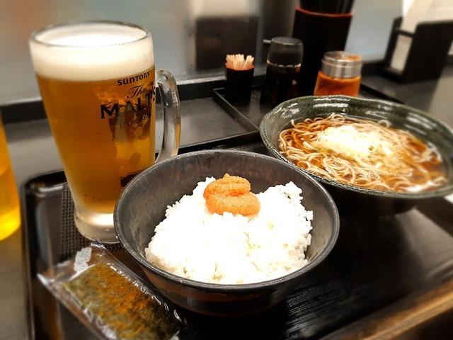 めんたいセット+ビール
