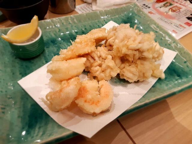 きくとえびの天ぷら