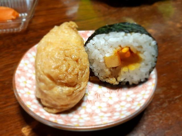 のり巻といなり寿司