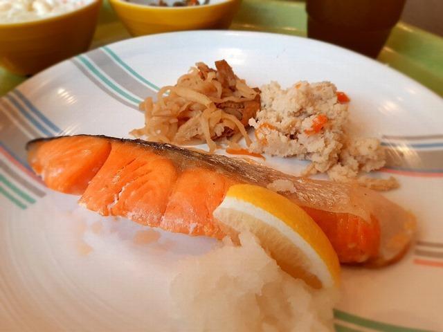 銀鮭の塩焼き定食