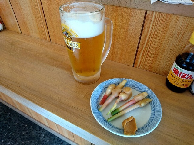 ビールと谷中生姜