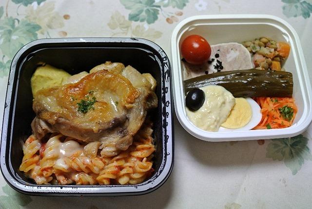 サバの鶏のコンフィと前菜