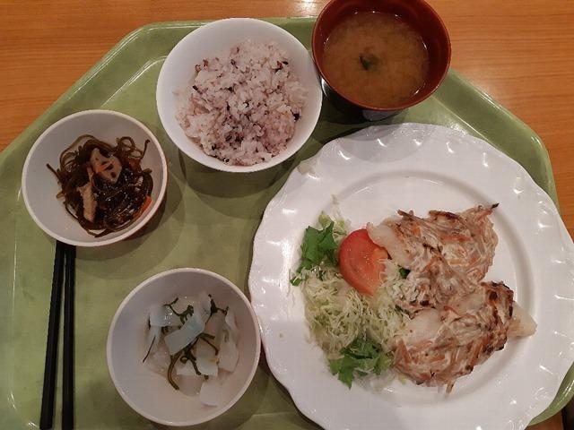 白身魚の牛蒡サラダ焼き定食
