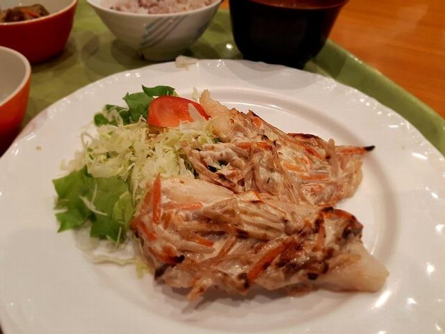 白身魚の牛蒡サラダ焼き
