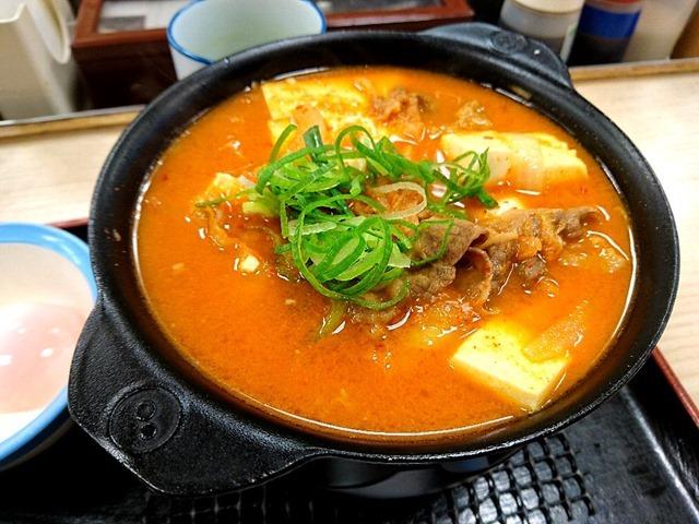 豆腐キムチチゲ鍋膳