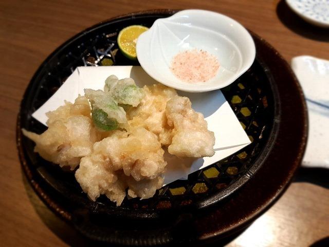 真鱈の白子天ぷら