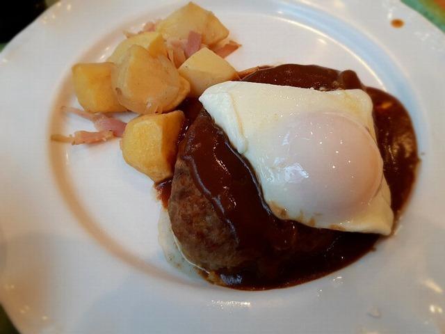 ジャーマンポテトハンバーグステーキ