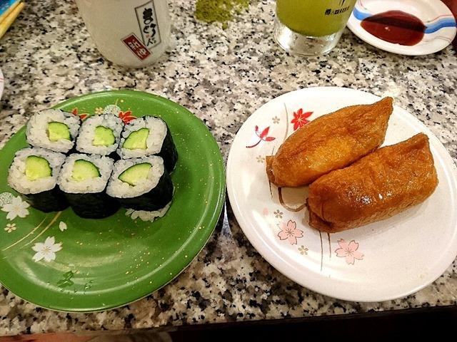 かっぱ巻といなり寿司