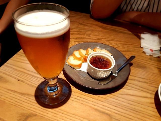 ビール&白レバームース