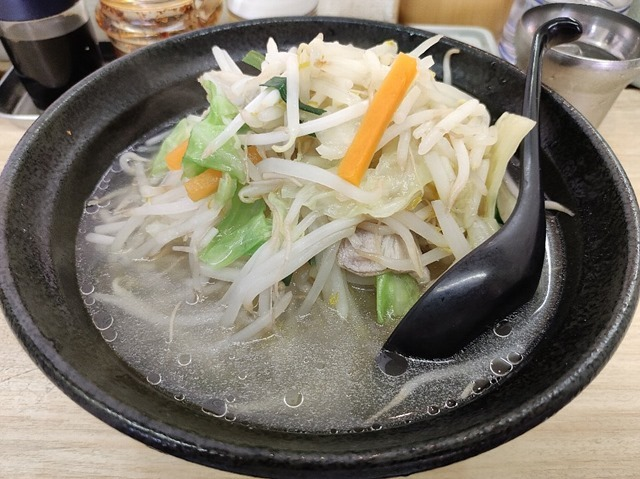 タンメン- 麺半分+野菜増し
