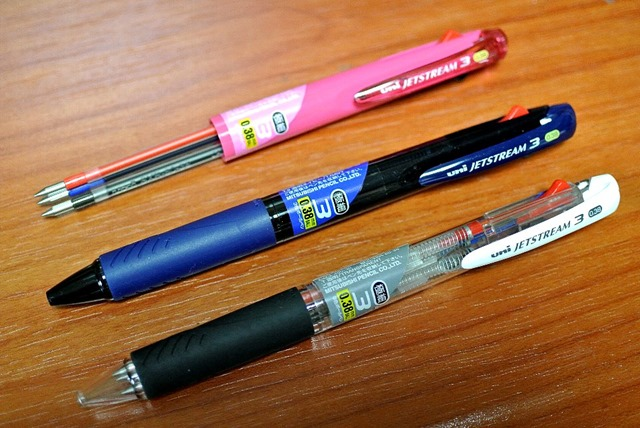 三菱鉛筆3色ボールペンジェットストリーム0.38