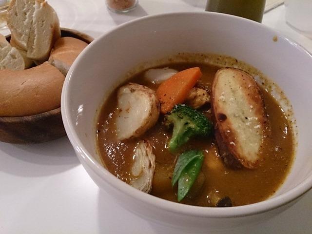 ゴスペルカフェのスープカレーwithベーグル