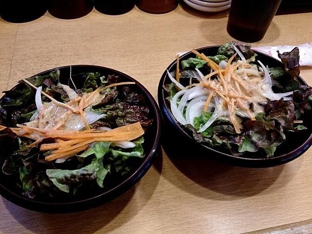 サラダが2皿