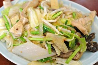 ホルモン野菜炒め(ニンニク入り)
