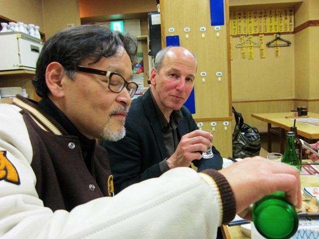 加賀屋でレモンハイ(モラスキー氏と一緒に)