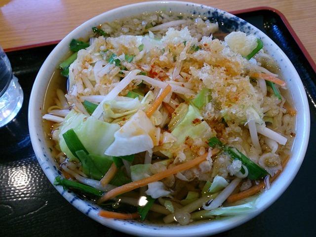 しぶそば長津田店のぴり辛野菜そば