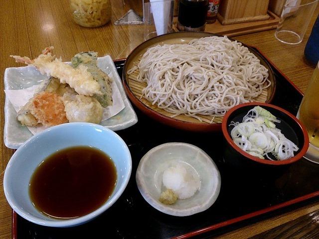 えび・野菜天そば(大盛