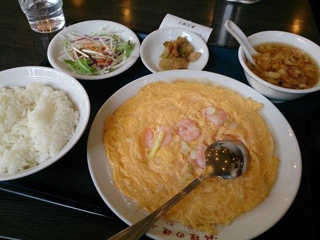 海老と玉子炒め定食