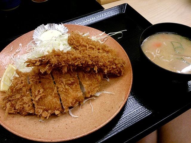 海鮮・ロースカツ定食(ライスなし)