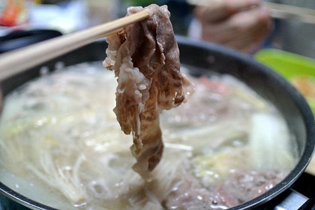 かみふらの和牛をしゃぶしゃぶで食べる