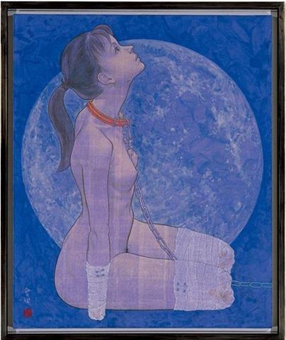 """会田誠『犬(雪月花のうち""""月"""")』 1996年"""